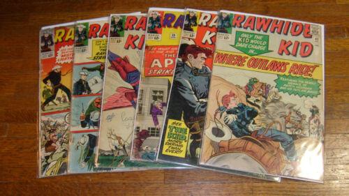 RAWHIDE KID #34, 35, 38, 39, 42, 43.. vintage MARVEL WESTERN COMICS, FAIR/GOOD