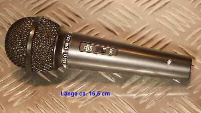 Dynamisches Profi-Handmikrofon. Kabel mit 3-Pin XLR Stecker und 6,3mm Klinkenst.