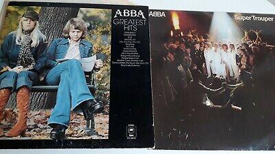 ABBA 2X VINYL LP GREATEST HITS 1976 EX & SUPER TROUPER 1980 VG+ JOB LOT
