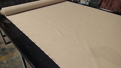 Oatmeal Tan 100% Flax Linen Fabric Soft Natural Fiber 56