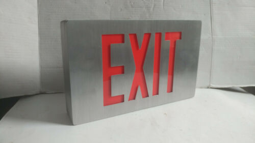 Evenlite Exit Sign Series CCDS Red Letters Red Lights Aluminum New Old Stock
