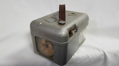 STB Vintage Pigeon Clock in Metal Case with Leather Strap