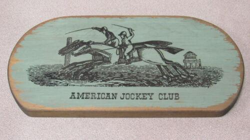 Vintage American Jockey Club Sign by Yorkcraft, Inc.
