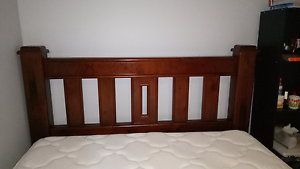 Wooden Bed with mattress North Wollongong Wollongong Area Preview