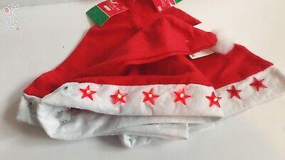 Flashing Santa Hats (Lot of 12 pcs Flashing Santa Claus Hat Light LED Xmas Holiday)