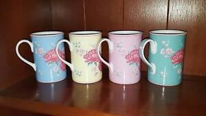 ROYAL ALBERT SET OF 4 ADORA COFFEE MUGS St Marys Mitcham Area Preview