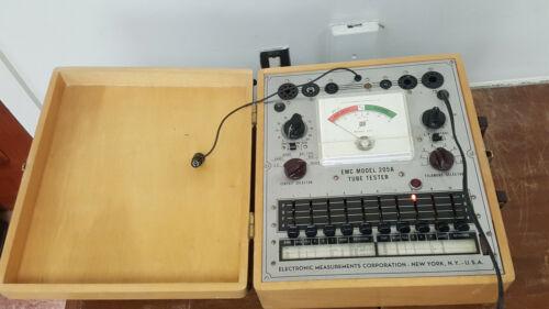 EMC Electronic Measurements Corp Model 205 Tube Tester Works