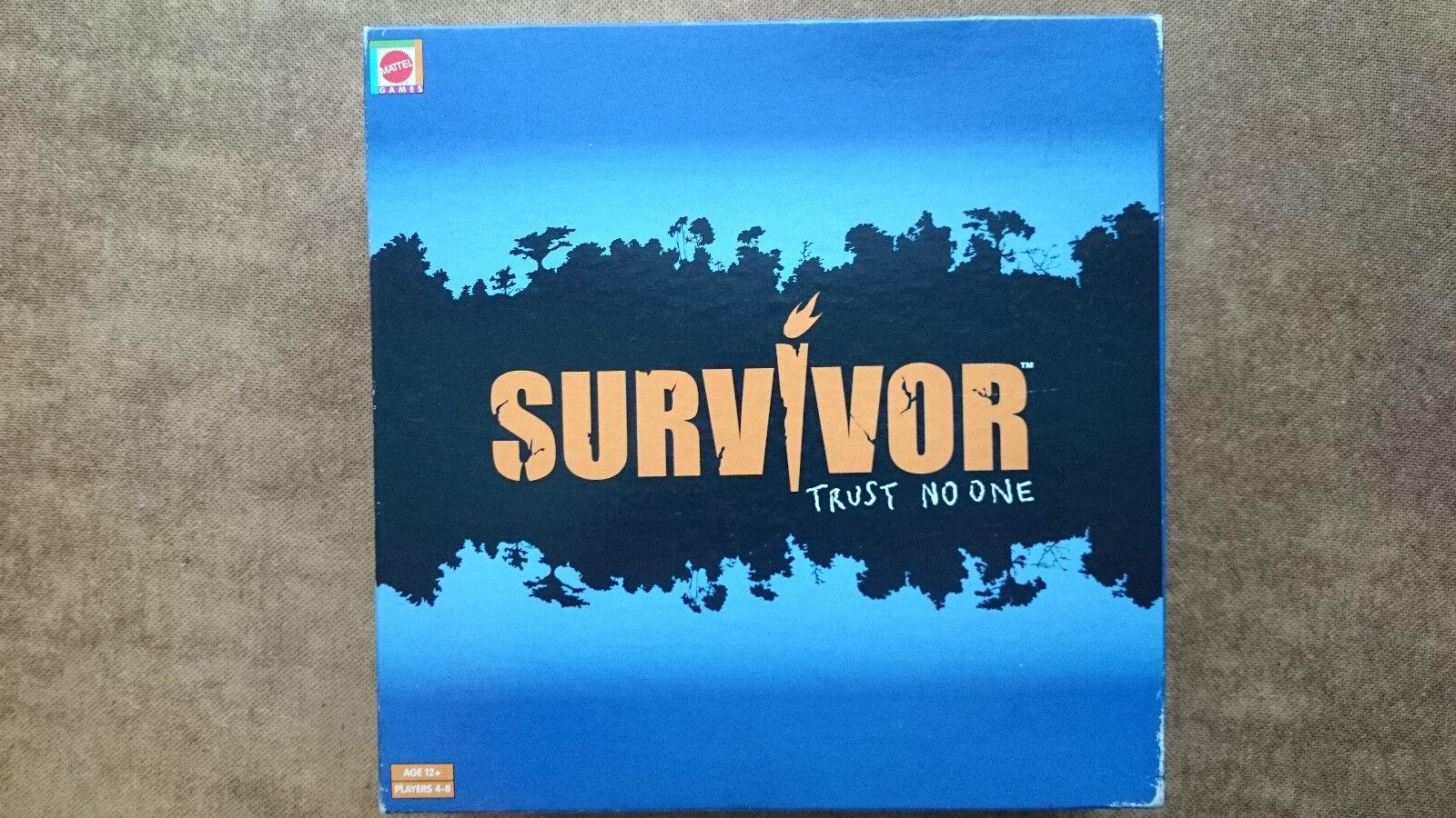 Survivor Trust No One  Game By Mattel 2001