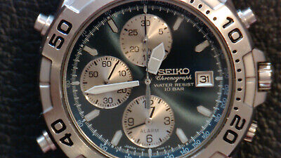 Vintage Seiko 7T32-7G50 Speedmaster Chronograph. New Date Wheel Fitted. Rare.