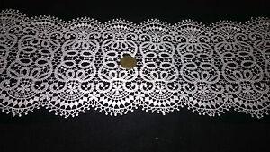 1 metre superbe dentelle guipure coton polyester blanc ou for Guipure noire au metre