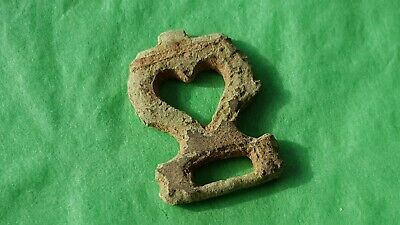 VR Style Medieval bronze lovers heart buckle plate Please read description L161i