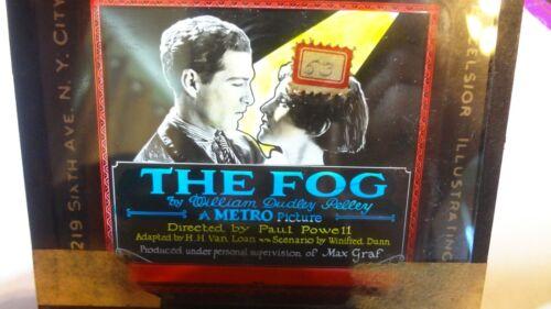 "1923 Glass Slide Lost  Film ""The Fog"" Silent Movie"