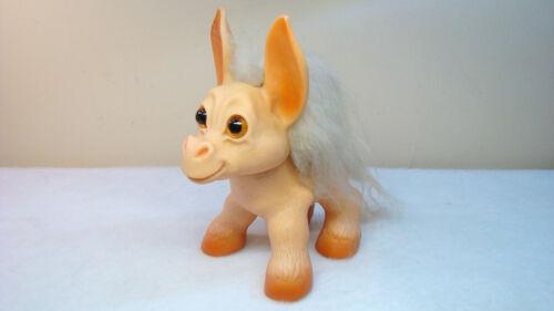 Rare Vintage 60s Dam Troll Large Donkey w Orig Sticker / Label