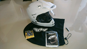 White Fly Racing Helmet + Bluetooth Headset North Fremantle Fremantle Area Preview