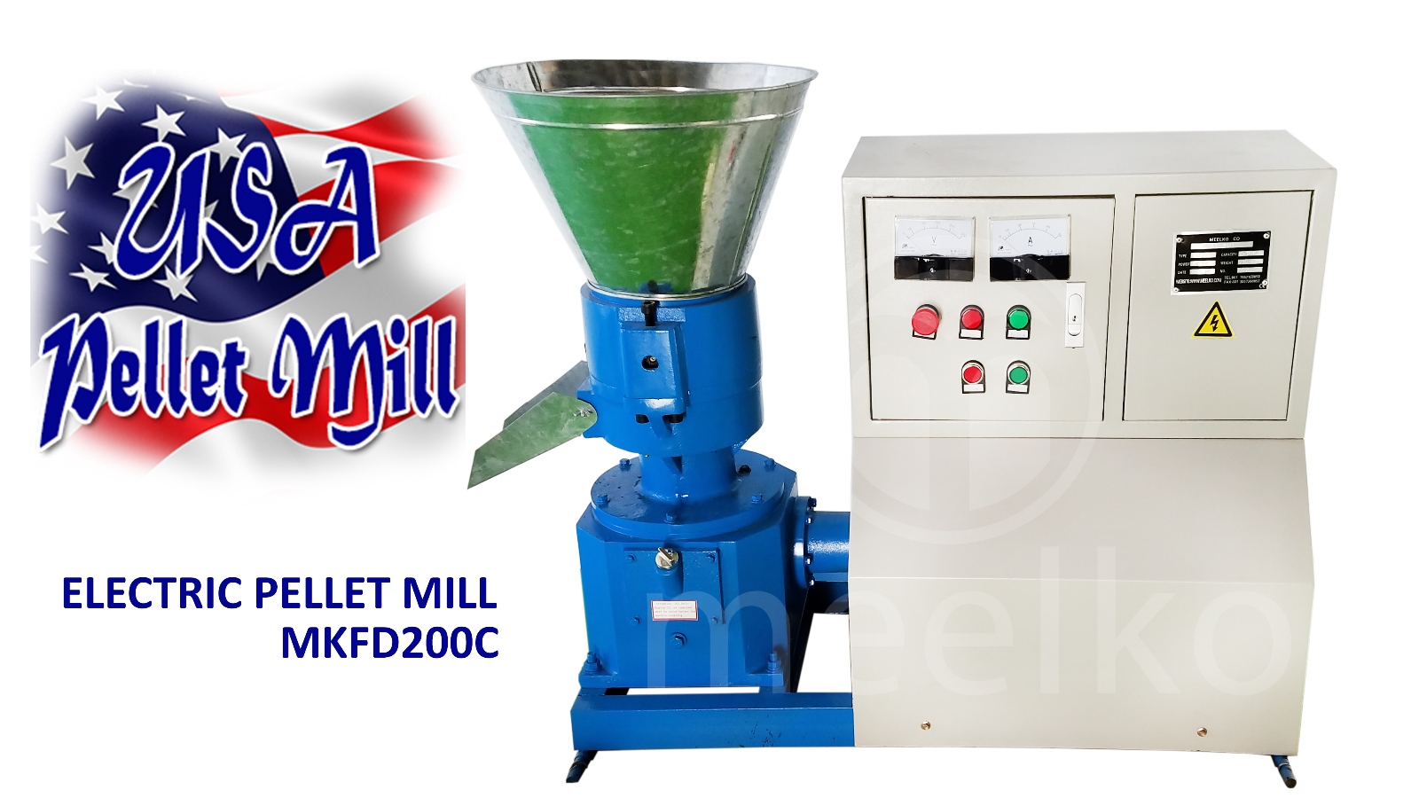 Free Shipping Electric Pellet Mill For Wood MKFD200C