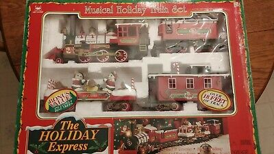 The Holiday Express Musical Christmas Train Set #0181 by New Bright Vintage 1995