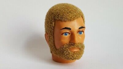 Vintage Action Man Palitoy Blonde Bearded Eagle Eyes Head. From Hybrid Figure.