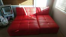 Leather Chaise Lounge Sofa for SALE (Color: Red) Crestmead Logan Area Preview