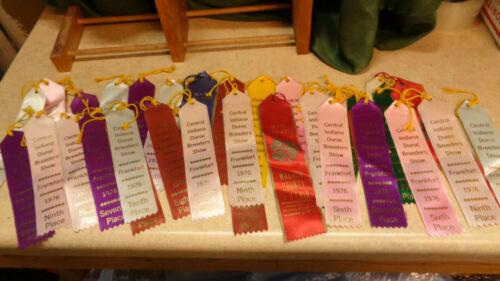 Vintage Lot of 30+ Duroc Hog Show Ribbons Awards Medals 1970