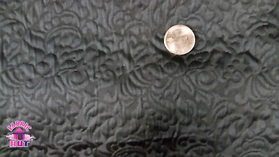 Home Decor Heavy Upholstery Black Floral Textured Fabric by the -