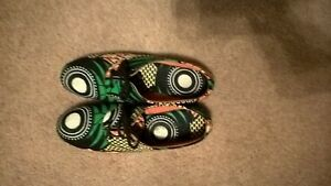 womens African print brogue shoes size 9.5-10