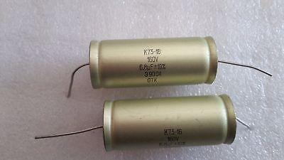 New Lot of 30 0.056 uF 160 V Russian USSR  PETP Capacitors K73-16