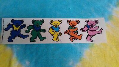 Grateful Dead Dancing Bears 2 x 8 Inch Window Sticker