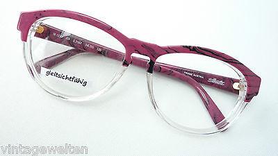 Antiquitäten & Kunst Brille Hochwertiges Markengestell Damen Silhouette 6155 Gold Rot Grösse L 55 17
