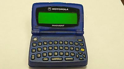 PROP PAGER - BLUE MOTOROLA T-900 - PROP OR AWESOME RETRO GAG GIFT MOCK TXT PAGER