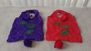 BRAND NEW Reusable Shopping Bags Purple Red Rose 50¢ each