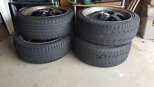 Black Deep Dish Rims R17 with good tyres West Hoxton Liverpool Area Preview