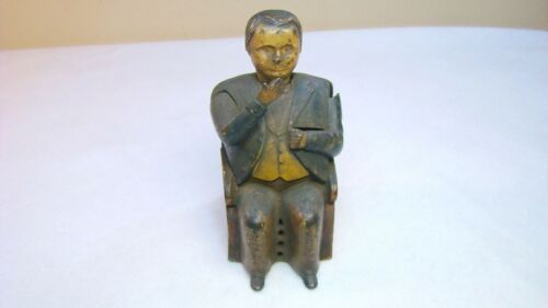 Antique Tammany Cast Iron Man in Chair Mechanical Bank