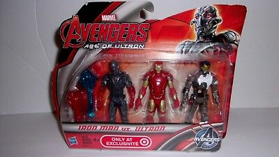 Marvel Avengers Iron Man Age of Ultron Iron Man Vs. Ultron Action Figures 3 Pack