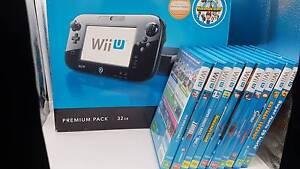 Wii U Premium 32GB + 10 Games Queanbeyan Queanbeyan Area Preview