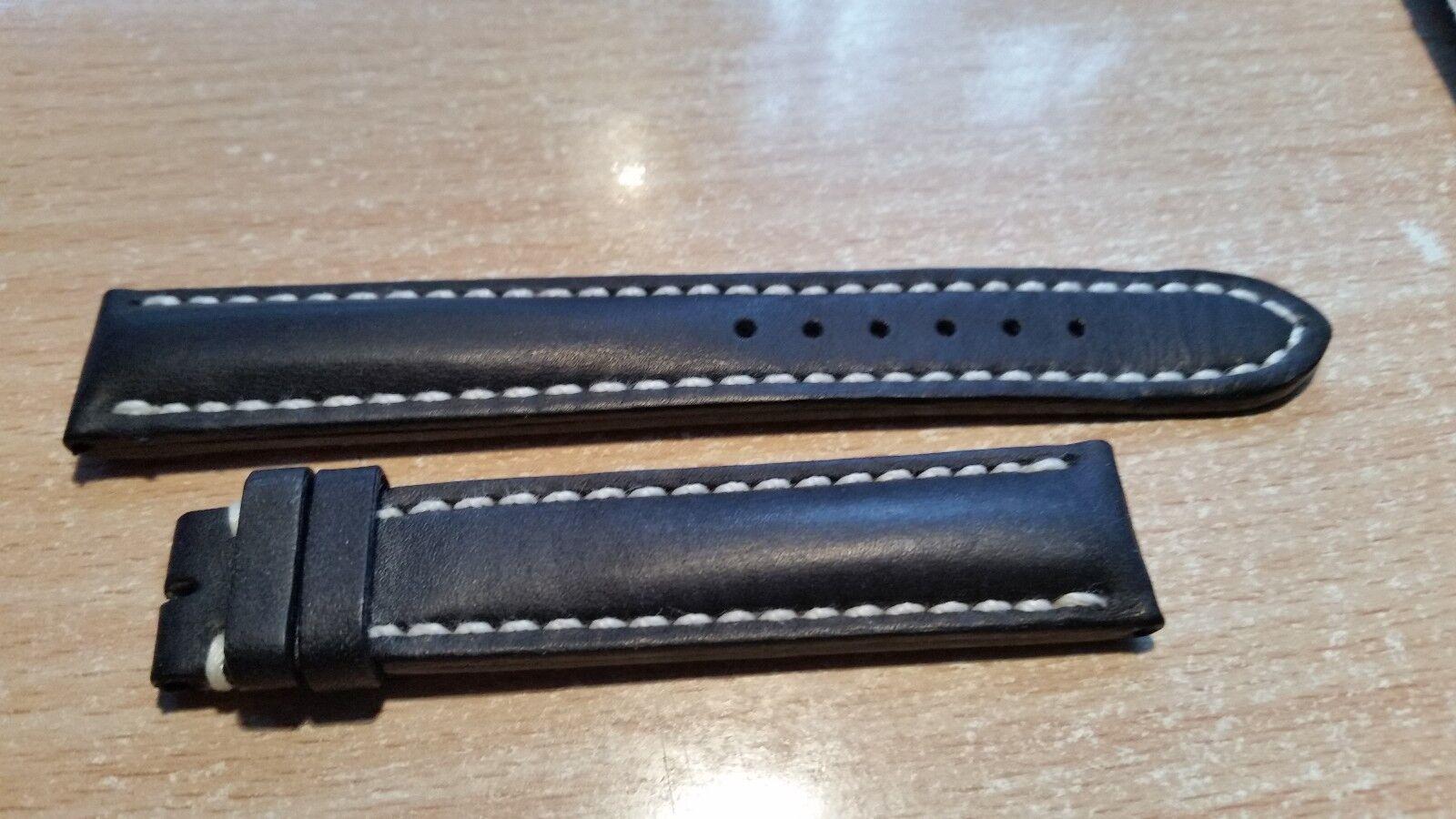 Breitling Uhrenarmband ( 18 - 16MM ) Farbe Schwarz Dornschließe !!