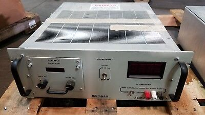 Behlman Acm-1500-4148 Variable Frequency Ac Power Supply