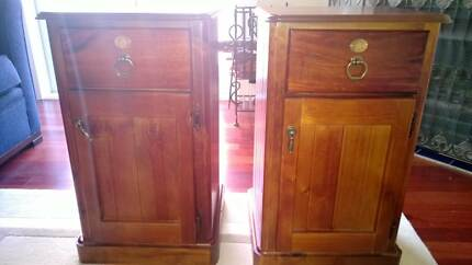 2 Beautiful Wooden Bedside Tables NEW St Leonards Willoughby Area Preview