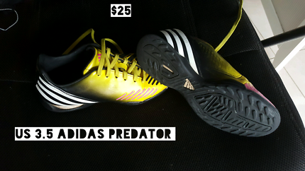 Adidas INDOOR SOCCER shoes boots Predator abdolado AS NEW  3.5