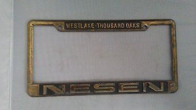 Thousand Oaks Auto Mall Nesen Dealership License Plate Frame Metal Embossed Tag (Thousand Oak Mall)