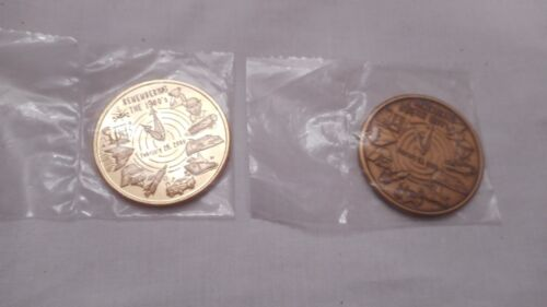 Mobile Mardi Gras Mobile Mystics Bronze Doubloons- 2 in All