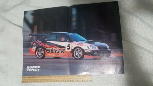 USED Super Street Reversible Poster Subaru WRX Nissan S13 Silvia 240sx