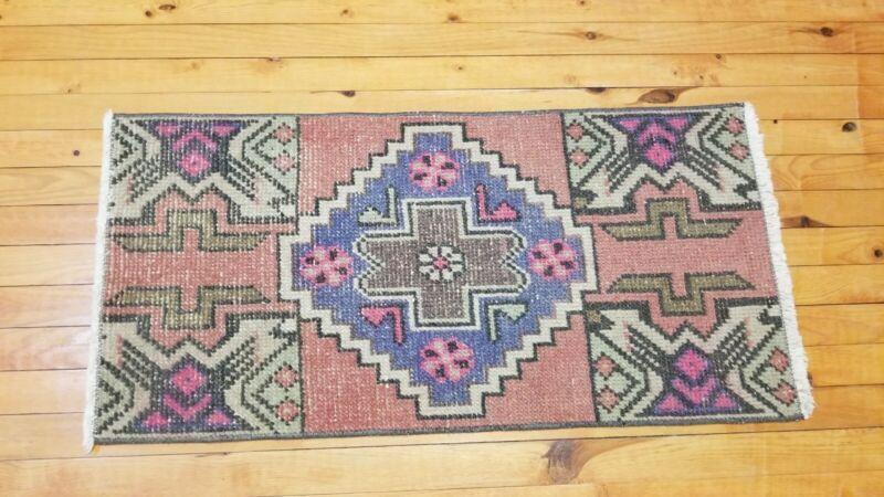 Vintage 1950-1960s Turkish Tribal Rug 1