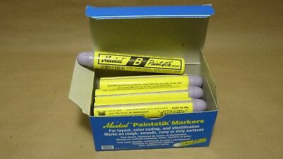 New Part # 80228 Markal B Paintstik Marker Real Paint in Stick Form / Box of 12