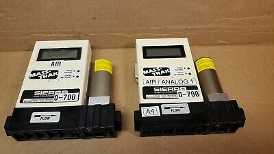 Lot Of 2 - Sierra Masstrak Mass Flow Controller 810c-dr-13  810c-dr-2 Gas Air
