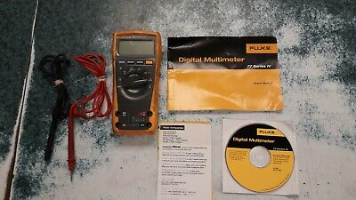 Fluke 77iv Digital Multimeter With Leads And Cd-rom Free Shipping