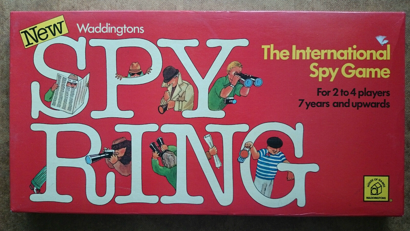 Spy Ring Game  by  Waddingtons 1978 Edition