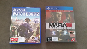 PS4 GAMES  watchdogs2 mafia3 Baldivis Rockingham Area Preview