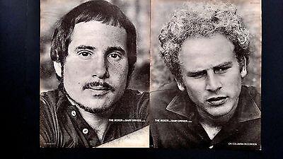 "SIMON & GARFUNKEL ""THE BOXER-BABY DRIVER"" 1969, RARE ORIGINAL PRINT PROMO POSTER"