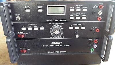 Lab-volt 1242 Digital Multimeter Af Generator Dual Power Supply Used