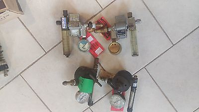 Airco Argon Union Carbine Gas Regulator Valve Welding Lot Of 4 Parts Repair